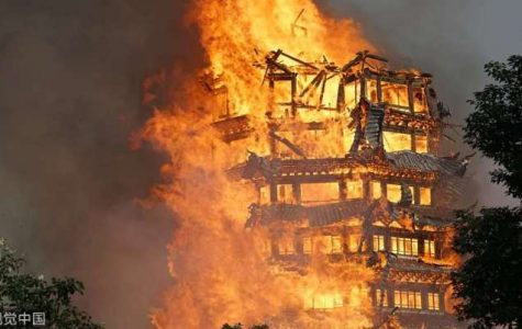 Highest Buddhist Pagoda in China burns to ashes