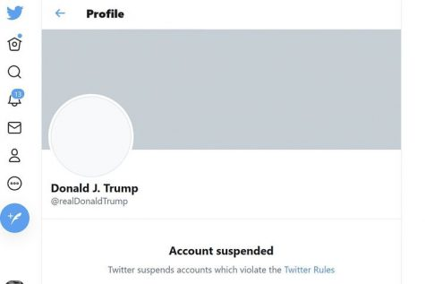 Twitter, Facebook and Instagram suspend Donald Trump