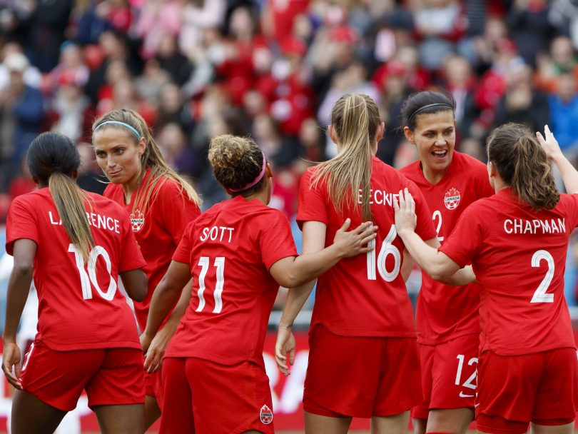 Canadian Women start at the Olympic