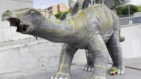 Stuck in a dinosaur