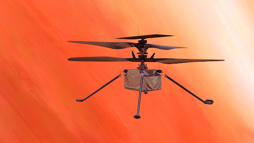 The First Drone Flight on Red Planet