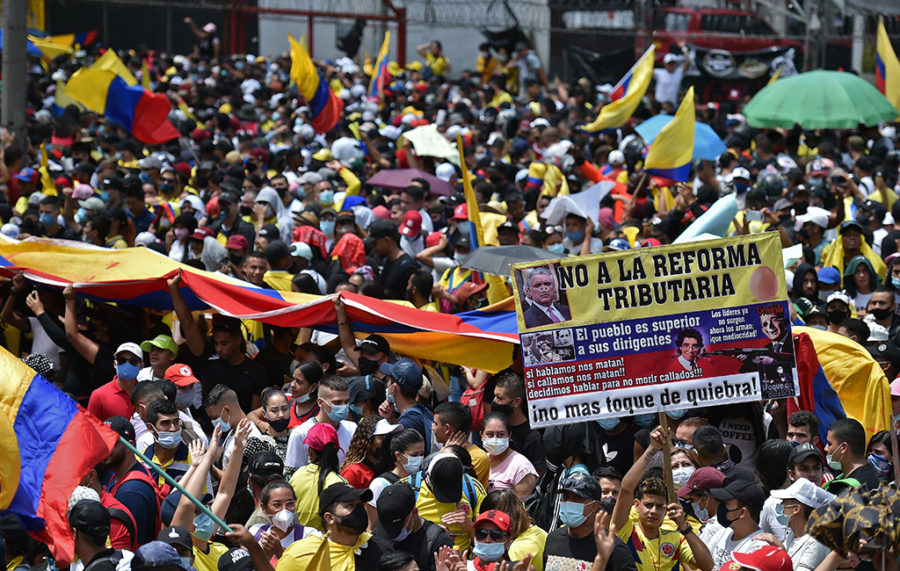 The protests against the new tax reform in Colombia
